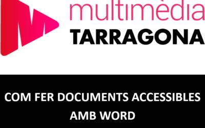 COM FER DOCUMENTS ACCESSIBLES AMB WORD